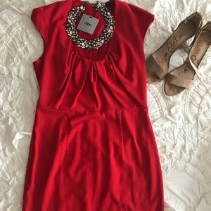 NWT! Brand New Red ASOS Cocktail Dress 10